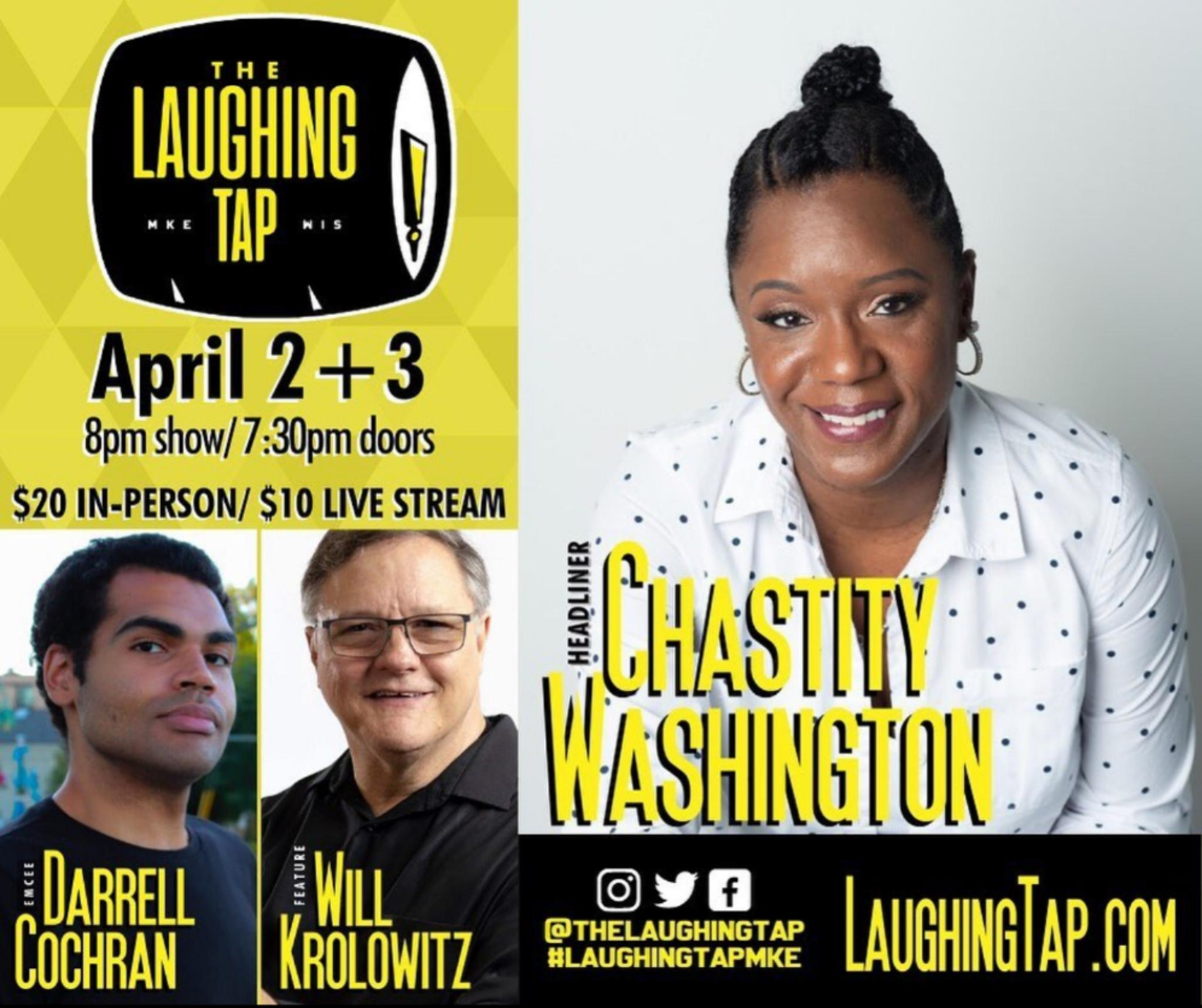 The Laughing Tap<br>706 S 5th St, Milwaukee, WI<br>Or from the comfort of your own couch!